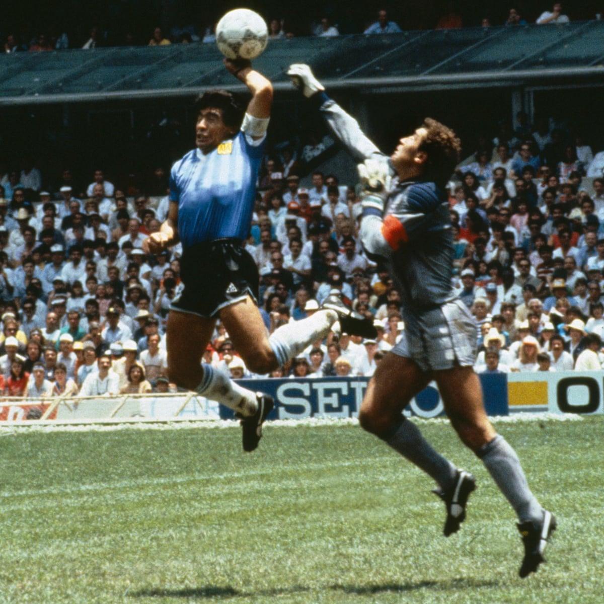 World Cup Stunning Moments Diego Maradona S Hand Of God Diego Maradona The Guardian