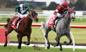 A close finish at Ladbrokes Park Racecourse in Melbourne last week.