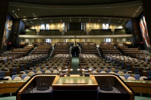 The general assembly hall, as seen from the speaker's podium.