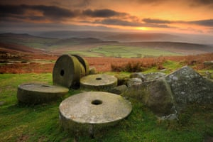 Stanage Edge millstones, Peak District.