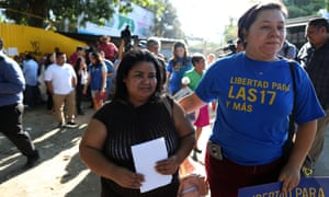Maira Veronica Figueroa is released from jail after the supreme court of El Salvador commuted her sentence, in IIopango, El Salvador