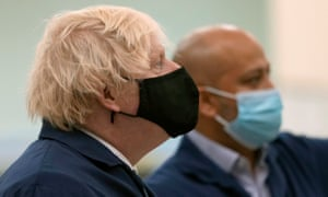Boris Johnson on a visit to the Airbus Defence and Space plant in Stevenage today.