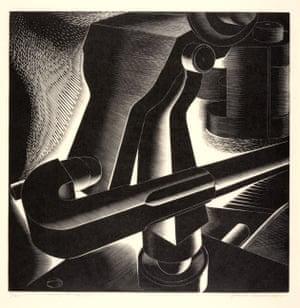 """The Press,"" 1934. Engraving."