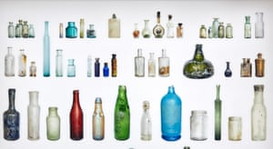 Some of the bottles found beneath the Amsterdam canals.