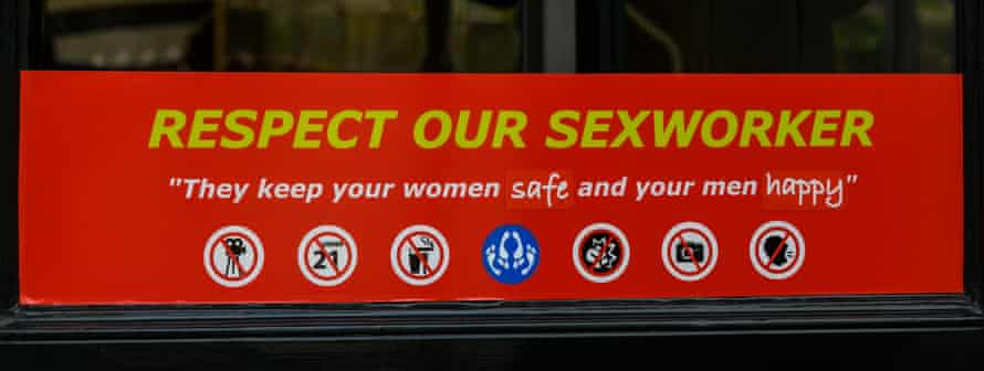 One of the sign displayed in many of the booths in Amsterdam's red light district.