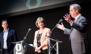 Nick Clegg, Andrea Leadsom and Nigel Farage