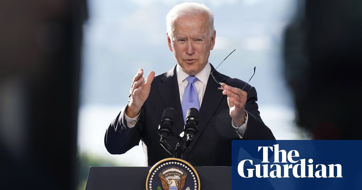 Biden apologises for being 'short' with reporter at Putin summit press conference – video