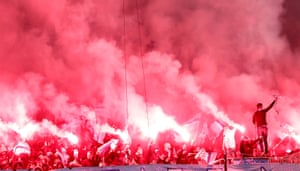 The Malmö fans set fire to the game.