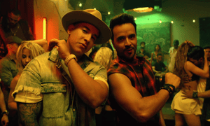 Daddy Yankee and Luis Fonsi in the Despacito video.