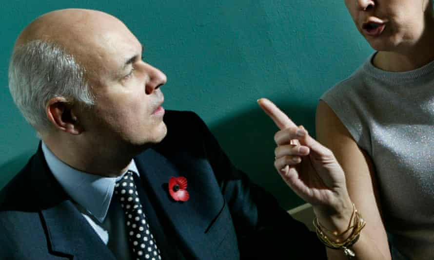 Iain Duncan Smith on a visit to drug addiction support groups in the Parkhead area of Glasgow, Scotland.