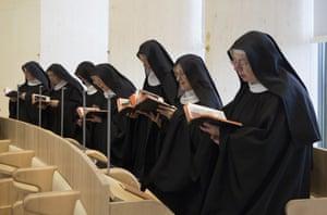 Nuns pray