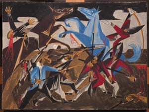 Jacob Lawrence - . . . again the rebels rushed furiously on our men, 1954