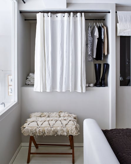 wardrobe made from alcove