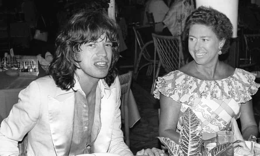 Margaret and Mick Jagger in Martinique in 1976.