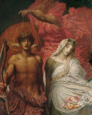 A detail from GF Watts's Time Death and Judgment (1900).