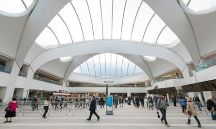New Street station in Birmingham, with a John Lewis store above.