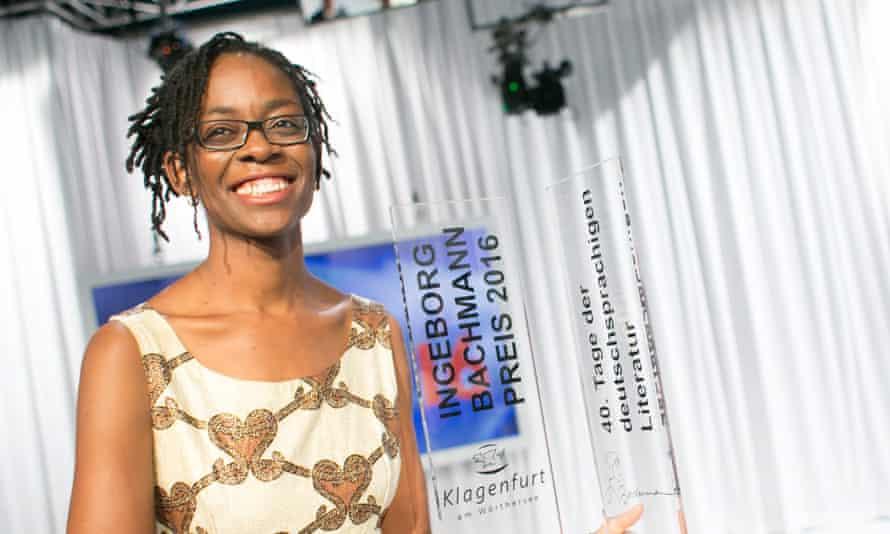 Sharon Dodua Otoo receives the Bachmann Award at the award ceremony in Klagenfurt, Austria.