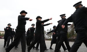 Police Scotland during their passing out parade