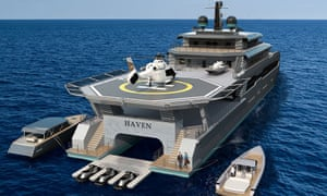 The ShadowCAT Haven is described as a 'protective layer' to the owner's mothership. By acting as a buffer between the main yacht and outside world, Haven allows owners and charterers to maintain Covid-secure social bubbles on board.