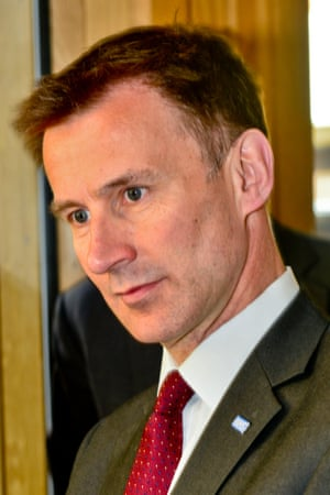 Jeremy Hunt visits Maggie's charity support center for cancer suffers and their families, April 23, 2015.