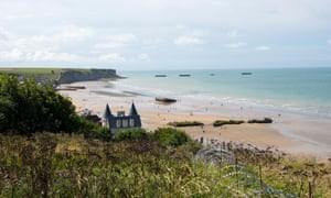 Remnants of the artificial harbour can still be seen at Arromanches-les-Bains, on part of Gold Beach.