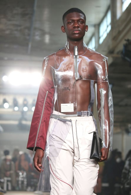 A model at the ACW show during London fashion week's menswear collections this month.