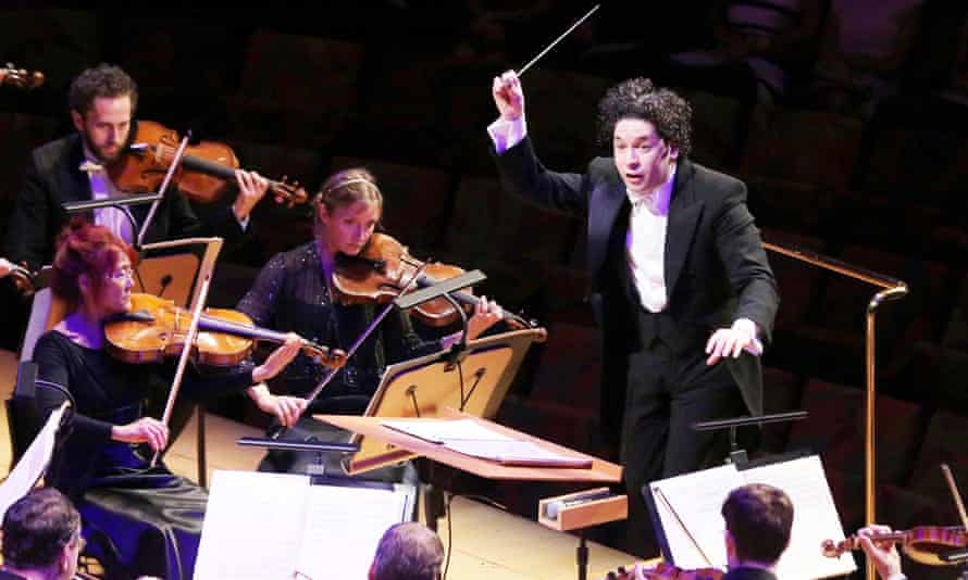 Gustavo Dudamel and the Los Angeles Philharmonic Orchestra.