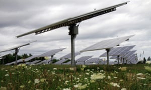 Middlebury College in Vermont has announced plans to supply all the energy it uses from renewable sources close to home, like these solar trackers in nearby South Burlington.