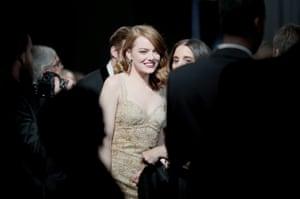 Actor Emma Stone backstage