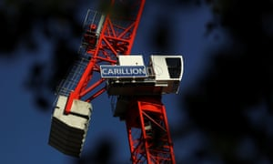 A crane stands on a Carillion construction site in central London.