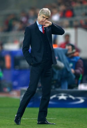 Arsenal manager Arsene Wenger looks relieved too.