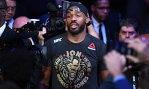 Jon Jones walks before his fight at UFC 247 in February