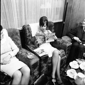 Helen Shapiro reads Pop Weekly at her hotel in Manchester, 1965