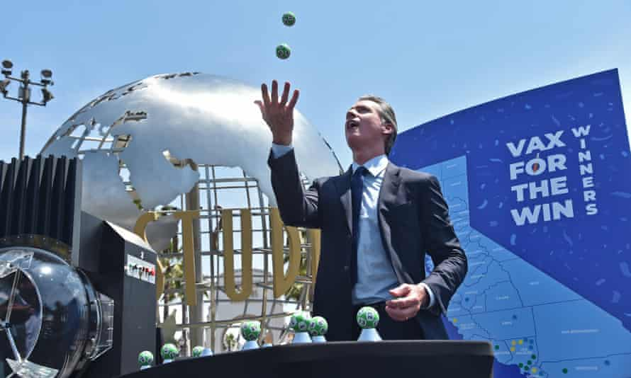 The California governor, Gavin Newsom, at Universal Studios in Hollywood on Tuesday