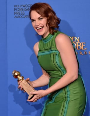 Ruth Wilson with Golden Globe
