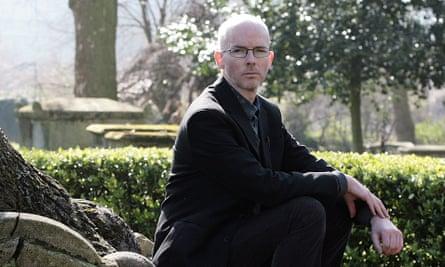 the author jon mcgregor in saint pancras old church graveyard