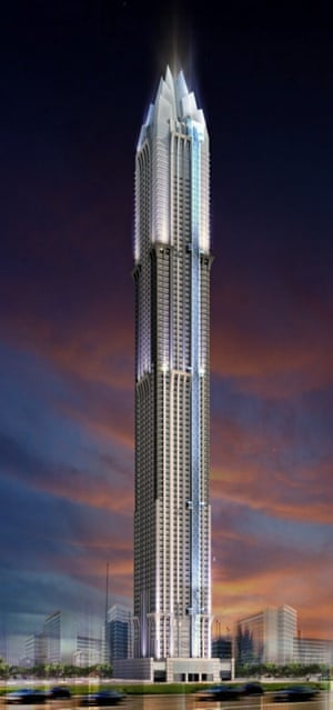The Marina 101 tower in Dubai is now expected to complete in 2016