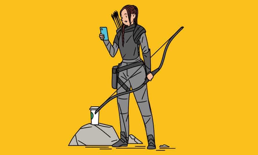 Generation K illustration Katniss Hunger Games iphone