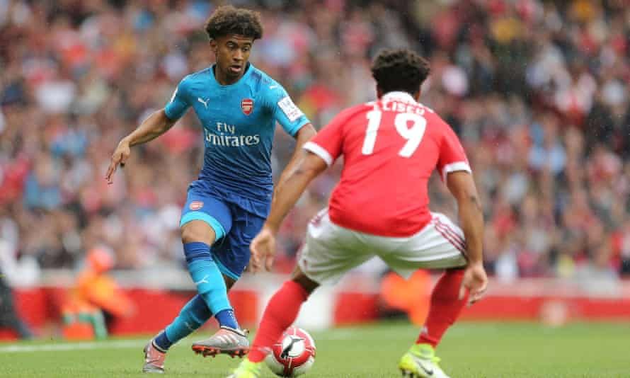 Reiss Nelson, Arsenal v Benfica , Emirates Cup