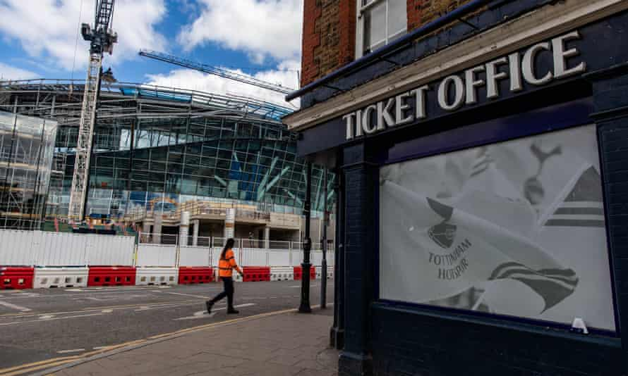 Tottenham had boasted that their unfinished new stadium would be 'the only place to watch the Champions League in London'.
