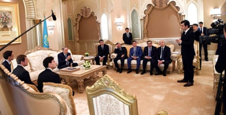 Santiago Calatrava's son Micael, co-CEO of development company Calatrava Grace, in talks with President Nazarbayev.