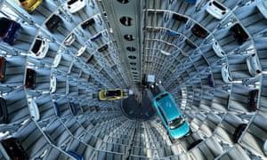 A VW plant in Wolfsburg, Germany