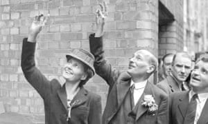 Violet and Clement Attlee on election day, 5 July 1945.