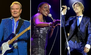 Glen Campbell, Sharon Jones and David Bowie.