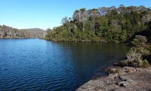 Lake Malbena and Halls Island in the Tasmanian Wilderness World Heritage Area