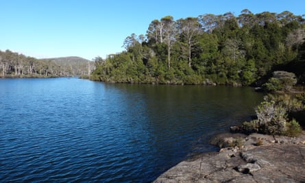Halls Island on Lake Malbena in the Tasmanian world heritage wilderness. Ecotourism business Wild Drake, backed by the state government, wants to build a luxury campsite there.