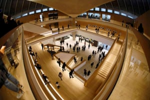 The atrium of the new Design Museum, designed by John Pawson.