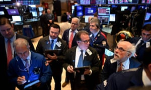 The opening bell at the New York Stock Exchange today, as losses deepened