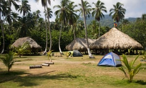 Camping in the Tayrona national park, on Colombia's spectacular Caribbean coast.
