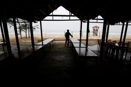 The effects of the spill have been felt by restaurateurs like Mai Ngoc Ky on Cua Viet beach.